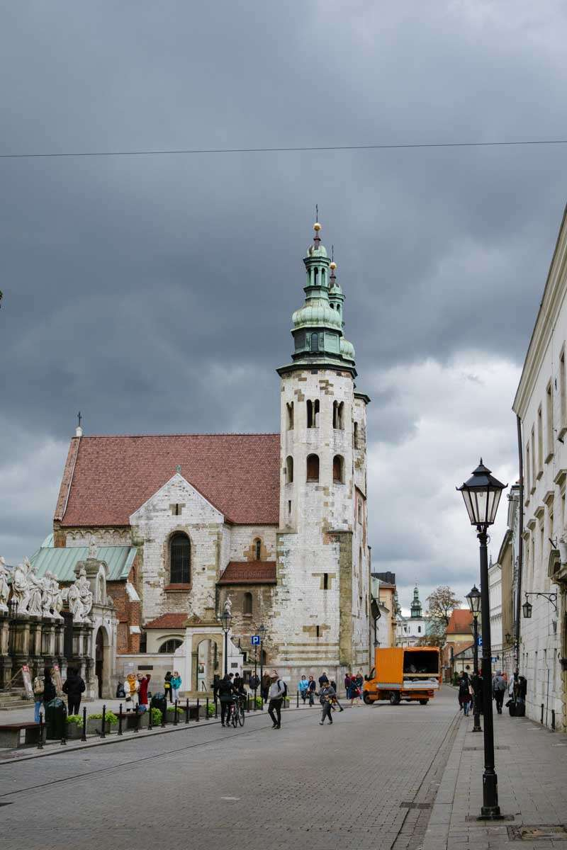 photograph of church in Krakow. European Travel Photography