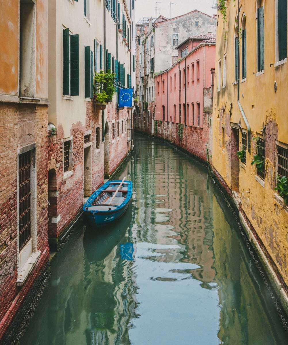 photograph of venetian canal