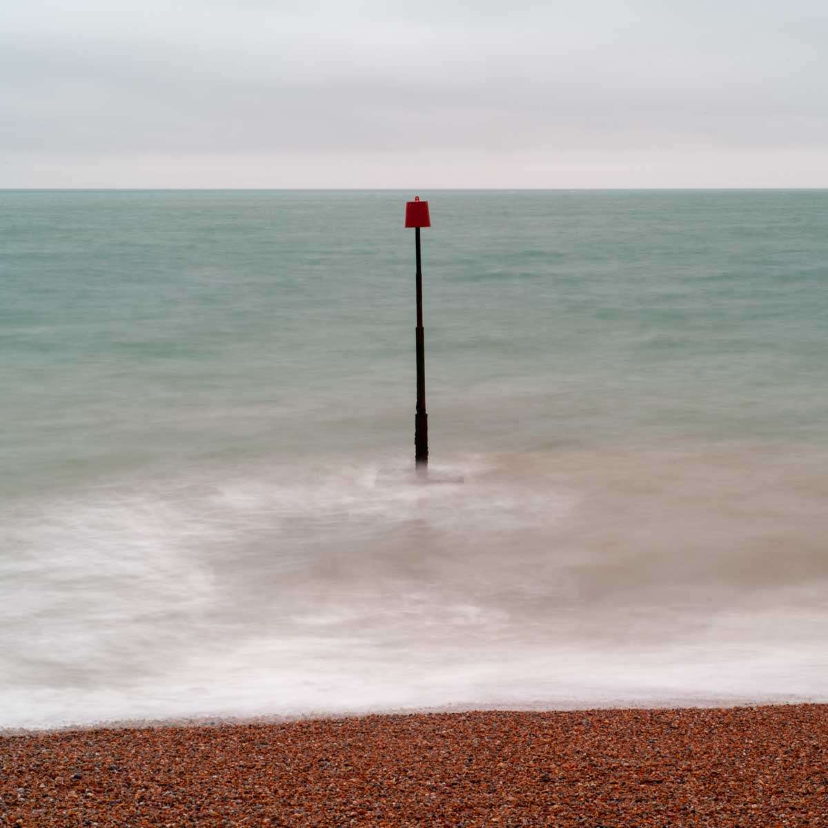 Long exposure photograph of the Sea and beach in Sandgate Kent
