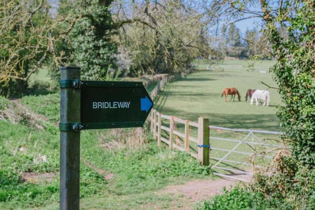 photograph of bridleway sign post