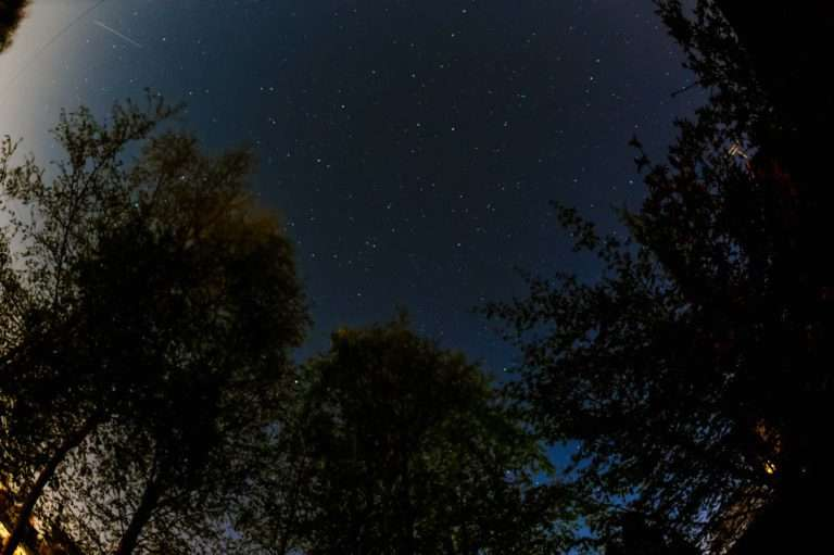 Long exposure of night sky in Oxfordshire
