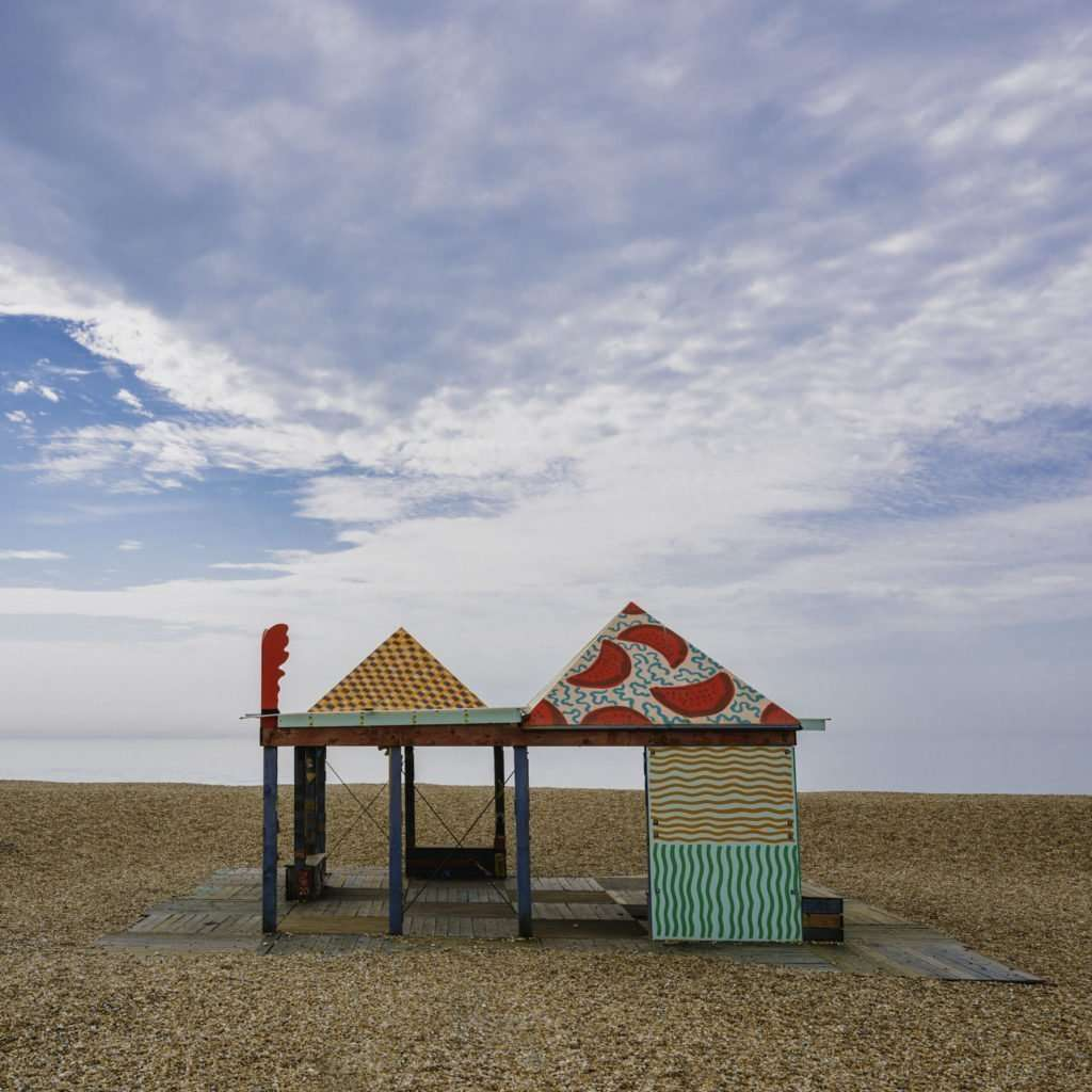 Art installation on the Beach between Folkstone and Sandgate