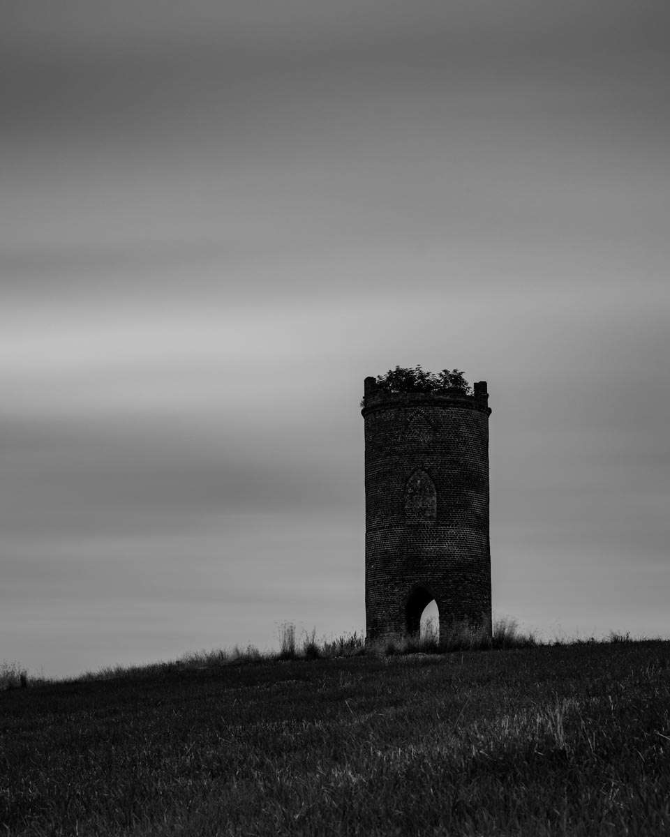 Monochrome photo Wilders Folly Sulham Woods Reading